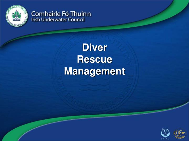 diver rescue management n.