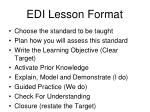 edi lesson format