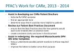 pfac s work for care 2013 2014