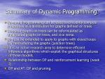 summary of dynamic programming