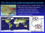 the effect of the airline transportation network