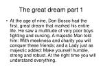 the great dream part 1