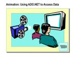 animation using ado net to access data