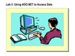 lab 3 using ado net to access data