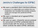 jericho s challenges for eip c