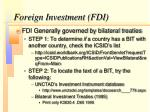 foreign investment fdi
