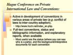 hague conference on private international law and conventions
