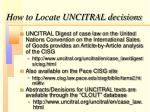 how to locate uncitral decisions