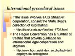 international procedural issues