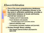 kluwerarbitration