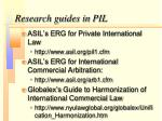 research guides in pil