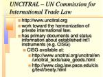 uncitral un commission for international trade law