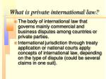 what is private international law