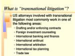 what is transnational litigation1