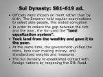 sui dynasty 581 619 ad