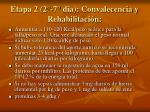 etapa 2 2 7 dia convalecencia y rehabilitaci n