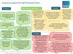 customer reasons for net promoter score
