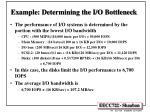 example determining the i o bottleneck1