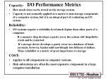 i o performance metrics