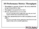 i o performance metrics throughput