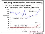 write policy performance for client server computing
