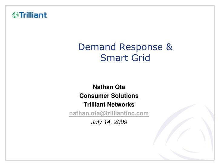 demand response smart grid n.