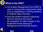 what is the pmf