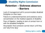 retention sickness absence barriers