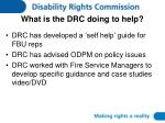 what is the drc doing to help