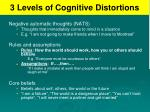 3 levels of cognitive distortions
