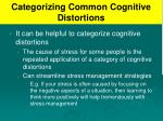 categorizing common cognitive distortions