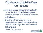 district accountability data corrections