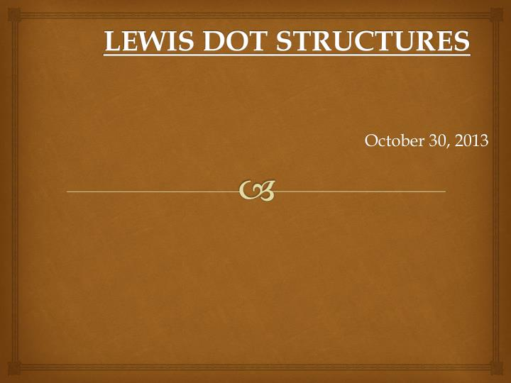 lewis dot structures n.