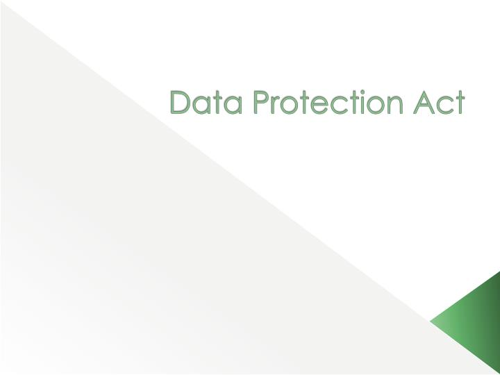 data protection act n.