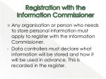registration with the information commissioner