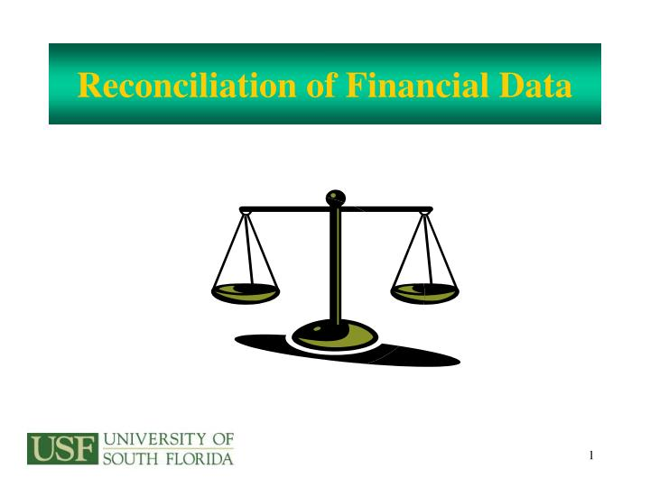 reconciliation of financial data n.