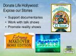 donate life hollywood expose our stories