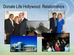 donate life hollywood relationships