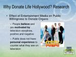 why donate life hollywood research