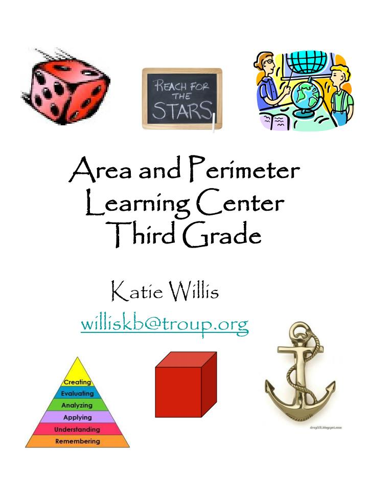 area and perimeter learning center third grade n.