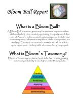 bloom ball report