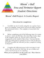 bloom s ball area and perimeter report student directions