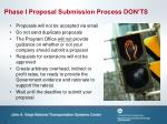 phase i proposal submission process don ts