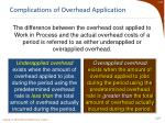 complications of overhead application