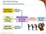 job order costing document flow summary4