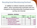 recording actual manufacturing overhead1