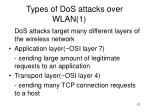 types of dos attacks over wlan 1