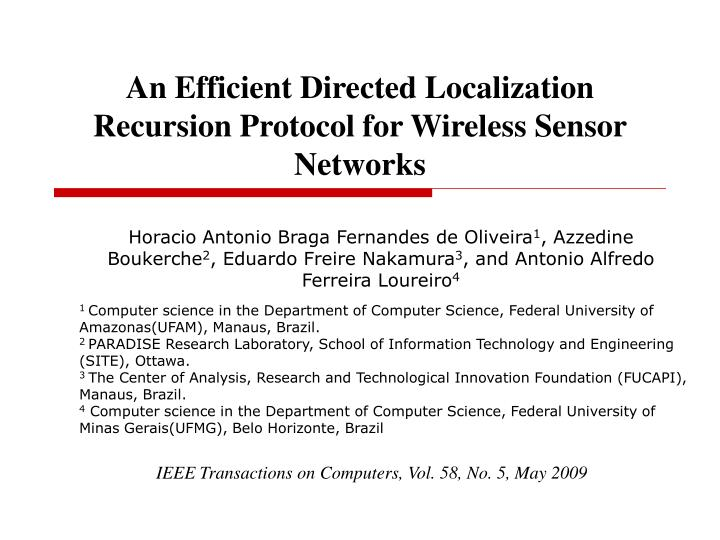 an efficient directed localization recursion protocol for wireless sensor networks n.