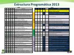 estructura program tica 2013