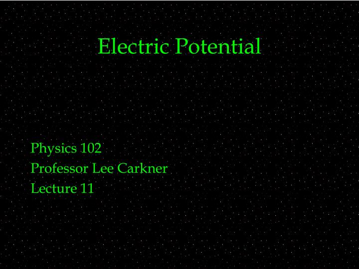 electric potential n.